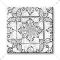 Ceramic Tile - Moroccan Tile Design Vintage Colors Tan Grey White Home Decor