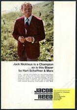 1972 Jack Nicklaus photo Hart Schaffner & Marx men's blazer vintage print ad