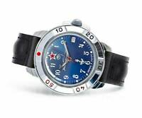 Vostok Komandirskie 431289 / 2414a Military Russian Watch U-boot Submarine Blue