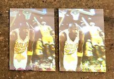 1991-92 Upper Deck Michael Jordan 2 Card Hologram Award Winner AW1 HOLO Invest!!