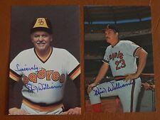 Dick Williams, San Diego Padres, autographed color postcard, dec-2011