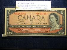 Rare1954 Canada 2 dollar bill