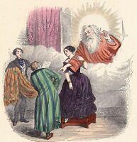 Proverbe Ce que femme veut Dieu veut Jean Jacques Grandville 1870