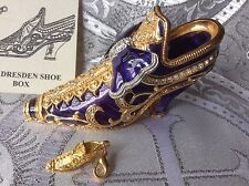 Edgar Berebi Limited Edition Faberge Dresden Shoe Trinket Collectors Box & Charm
