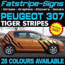 PEUGEOT 307 TIGER STRIPES GRAPHICS STRIPES DECALS STICKERS GTI PUG ESTATE CC 1.4