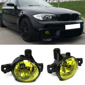 BMW 1 series E82 E87 E81 E88 X5 E70 Pair foglamps foglights fogs YELLOW UK