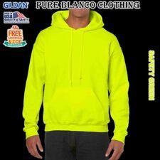 Sale Gildan Safety Green Adult Pullover Hoodie Plain Hoodie Blank Hoodie
