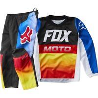 NEW Fox 2020 MX 180 Fyce Blue/Red Toddler Motocross Dirtbike Riding Gear Set