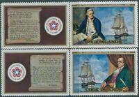 Cook Islands 1976 SG541-542 USA Bi-centenary set with tabs MNH