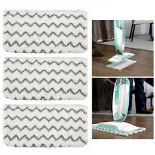 3X Microfiber Mop Cloth Flat Floor Room Cleaning Mop Towel Wet Dry Pad Tools UK