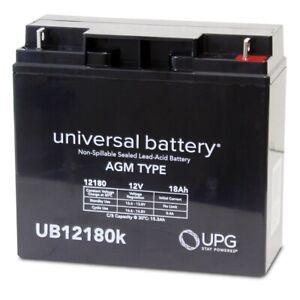 UB12180 12V 18AH RECHARGEABLE BATTERY 4 BLACKDECKER CCM 24V MOWER REPLACEMENT