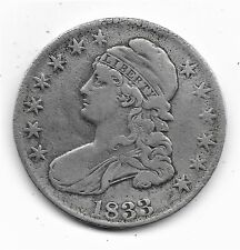 1833 Capped Bust Half Dollar - Very Fine (except one spot) - 89.24% Silver