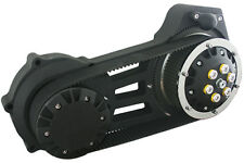 "Ultima Black 2"" Open Belt Drive Complete Primary 07-16 Harley Softail Dyna"