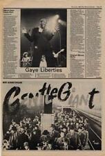 Gentle Giant Civilian Advert NME Cutting 1980