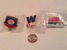 Lot Of 3 Chicago Cubs Baseball Mlb Related Trading Pins -- Lanyard Pinbacks
