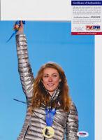 Mikaela Shiffrin 2018 Olympics Signed Autograph 8x10 Photo PSA/DNA COA #2
