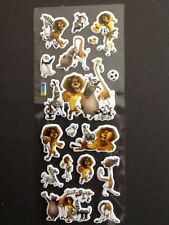 MADAGASCAR Penguins Lion Padded PVC Stickers 5 Sheets - 85 Stickers Cartoon