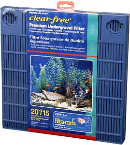 Premium Under Gravel Filter System 20 Gallon Fish Tanks Aquarium Blue Powerful