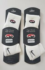 VTG 90's NIKE TIGER WOODS GOLF CREW SOCKS 2 PAIRS TW Dri-Fit OG Rare UK 7.5-11.5