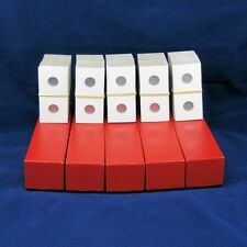 500 Cardboard 2x2 Mylar Coin Holders for Dimes with 5 Storage Boxes
