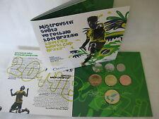 TSCHECHIEN 2014 KMS MÜNZEN SATZ COIN SET ST BU - FIFA FUßBALL WM IN BRASILIEN -