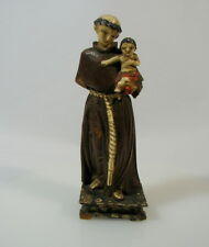Heiliger Antonius mit Jesuskind Holz Linde geschnitzt und gefasst um 1800 Barock