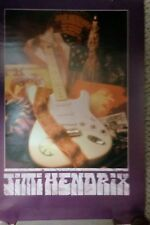 Rare Long Out Of Print Jimi Hendrix Experience Large Full Color Poster
