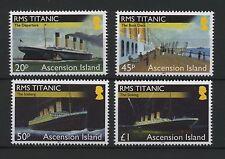 (W0216) ASCENSION ISLAND, SET TITANIC 2012, UM/MNH, CAT. HIGH, SEE SCAN