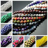 Wholesale Natural Gemstone Round Spacer Loose Beads Lots 4mm 6mm 8mm 10mm 12mm