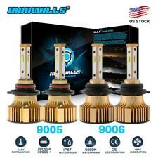 Combo 9006+9005 LED Headlight 5000W 750000LM Hi-Lo Beam Kit HID Lamp Power 6000K