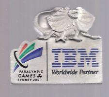 2000 IBM Sydney Olympic Pin Paralympic Lizzie Mascot 3D
