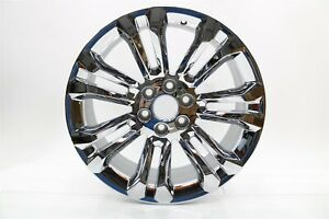 "NEW OEM GM 22"" Chrome 7-Split Spoke Wheel Rim 19301159 Silverado Sierra 2014-18"