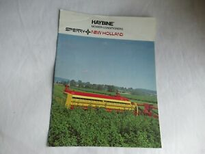 New Holland 477 479 haybine mower-conditioner brochure