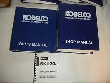 Kobelco SK120 LC SK100 OEM Excavator SHOP MANUAL PARTS OPERATORS Catalog Service