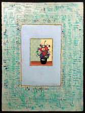 "Steven D'hanson ""Fresh Air"" Original Mixed Media Art, still life vase MAKE OFFER"
