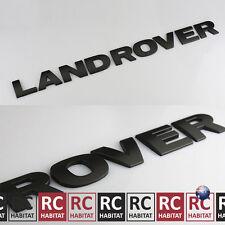 LAND ROVER Matte Matt Black Bonnet Letters Sticker Rear Boot Badge Emblem Decals