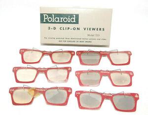 6 - 3D Polaroid Camera #723 3 D Stereo Slide Clip On Viewer Glasses