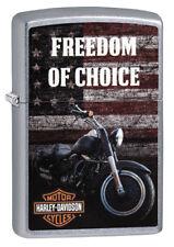 ZIPPO Feuerzeug Harley Davidson FREEDOM OF CHOICE Motorrad Biker NEU OVP