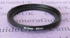 40.5mm to 46mm Male-Female Stepping Step Up Filter Ring Adapter 40.5mm-46mm UK