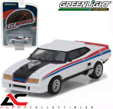 GREENLIGHT 13190E 1:64 1973 FORD FALCON XB WHITE WITH RED / BLUE STRIPE