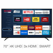 Sharp Aquos Net 70 Inch 4k Uhd Smart Led Tv With X3 Hdmi & Rf Remote In Black