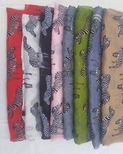 Fancy Ladies' Zebra animal Print Soft Scarf Animal Large Long Shawl