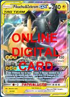 1X Pikachu & Zekrom GX 33/181 Team Up Pokemon Online Card TCG PTCGO Digital Card