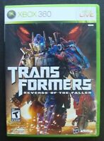 TRANSFORMERS REVENGE OF THE FALLEN XBOX 360 MICROSOFT VIDEO GAME