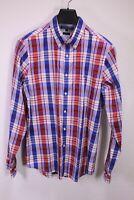 HB523 Tommy Hilfiger Herren Hemd Shirt Gr. L Langarm blau weiß kariert slim fit