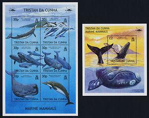Tristan Da Cunha 718-9 MNH Whales, Dolphins, Marine Mammals