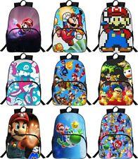 Super Mario Bros Backpack Student School Bag Shoulder Bag Book Bags Daypack