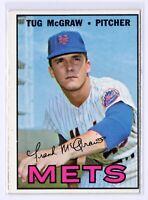 1967 Topps #348 Tug McGraw New York Mets Baseball Card