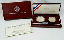 1992 U.S. Olympic Two-Coin Uncirculated Set $1 Baseball -  Half Dollar Gymnast