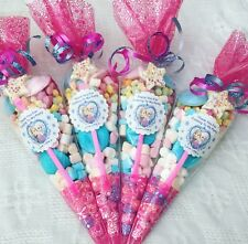 10 X Disney Frozen Themed Pre Filled Party Cones personalised+free sweety bag